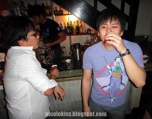 bryan taking tomato juice