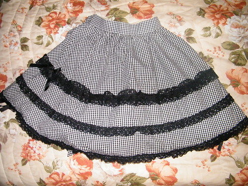 Metamorphose gingham check skirt