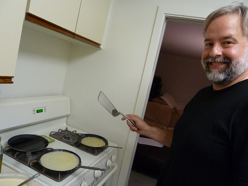 Making crepes with Chris!