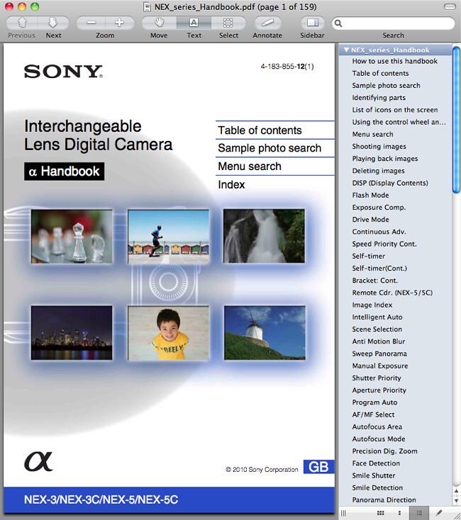 Sony NEX-5 Handbook