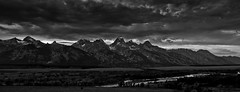 Tetons north from Albright and the Snake River (Jeff Bernhard) Tags: mountains clouds jackson wyoming teton tetons grandteton jacksonhole grandtetonnationalpark gtnp