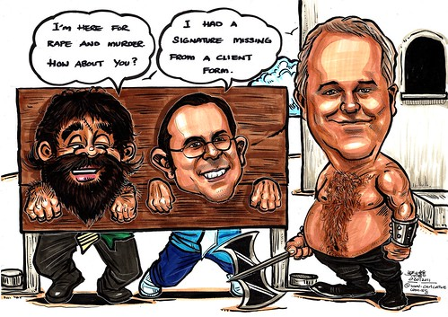 Caricatures for ANZ