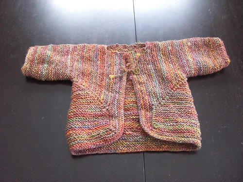 Rainbow Handspun Baby Surprise Sweater