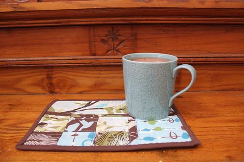 Hummingbird Mug Rug