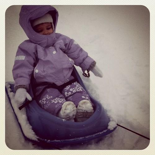 Snowy ride...