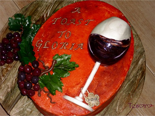 Wine Glass Cake