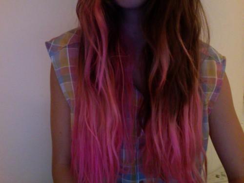 1 pink hair
