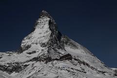 Matterhorn / Mont Cervin / Monte Cervino in Zermatt im Kanton Wallis in