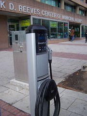 Public charging station for electric cars, 14th and U Streets NW