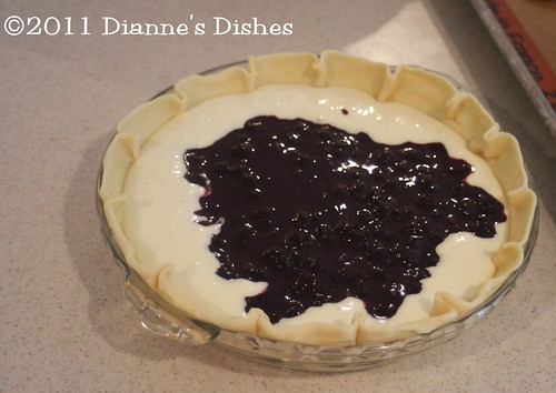Blueberry Cheesecake Pie: Ready to Bake