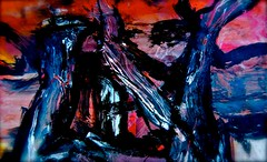 """""""at the sunset of time, the window to my heart shall remain open to you""""* january 2011 (THE ART OF STEFAN KRIKL) Tags: love illustration abstractart modernart birth paintings apocalypse sunsets scorchedearth expressionistart artandpoetry"""
