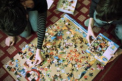 (rachelakelso) Tags: life self us couple disney puzzle noface mister year3 365days 012011 withshaun canonrebelt2i