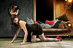 Diva (maxglez) Tags: lighting light canon pose leopardo model flash illumination posing estudio modelo leopard hairdresser posando strobe iluminacion peluqueria  posar 50d 580exii maxglez maximilianogonzalez 18200is