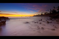 lands end (Eric 5D Mark III) Tags: ocean california longexposure sunset sky usa cloud seascape beach water silhouette rock canon landscape bay twilight sand unitedstates surreal wideangle orangecounty lagunabeach ef14mmf28liiusm eos5dmarkii