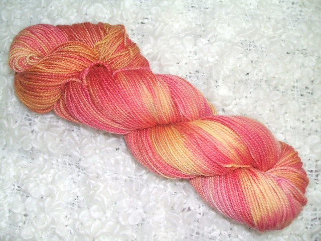 Hand dyed Sheila sock