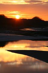 Winter sunset at Fremington (1) (jurassic john) Tags: sunset sea reflection water canon river coast sand mud estuary devon westcountry eos400d absolutelystunningscapes