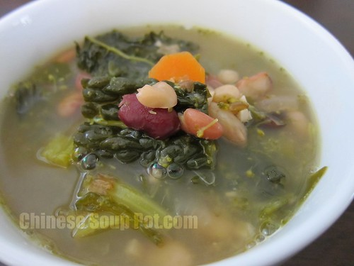 [Photo-Bowl of Mixed Beans Potato Vegetable Soup]