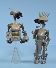 SP-4 & JN-66 Research Droids (FranMoff) Tags: actionfigures starwars hasbro robot droid sp4 jn66 reasearchdroids