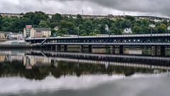 Craigavon Bridge (Poul_Werner) Tags: derrylondonderry gislevrejser nordirland northernireland riverfoyle 53mm busferie ferie travelbycoachorbus londonderry unitedkingdom gb