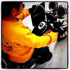 バイク試乗中