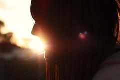 Smile, sunshine. (Mikki.) Tags: love girl smile silhouette golden girlfriend stacey hour bestfriend goldenhour sunflare