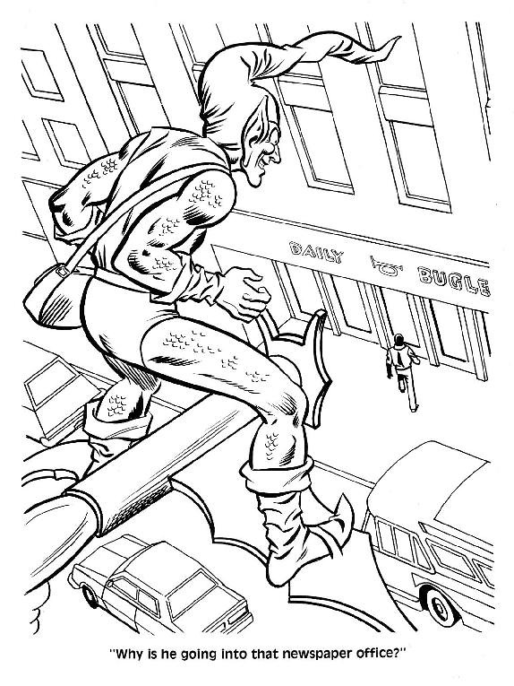 Spider-Man Unmasked! Coloring Book019
