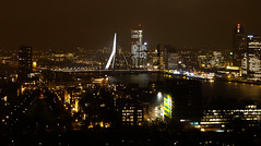 City lights (Channed) Tags: city night lights rotterdam nightshot explore nightview maas euromast erasmusbrug cityview erasmusbridge explored chantalnederstigt