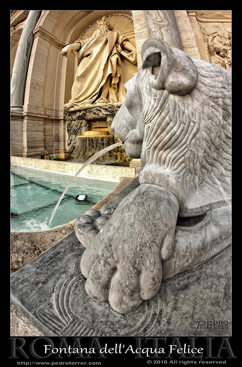 Roma - Fontana dell'Acqua Felice - Fuente de Moisés