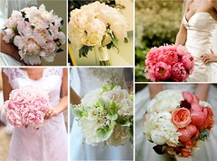 Peony Wedding Bridal Bouquets (One White Dress) Tags: flowers wedding inspiration flower color colour floral beautiful photo pretty photos peony theme florist bouquet weddings bridal ideas peonies stylish posy centrepiece
