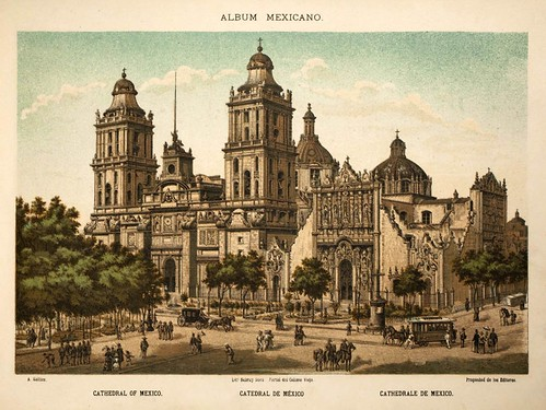 001-Catedral de Mexico- Album Mexicano  Coleccion de Paisajes Monumentos Costumbres..1875-1855