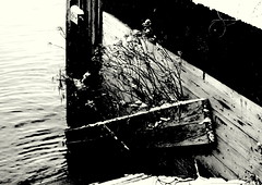 (gajtalbot) Tags: uk winter blackandwhite bw river scotland clyde glasgow lancefieldquay