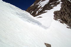Snow Cornice on Mather Pass