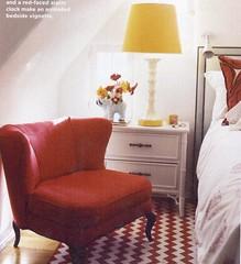 krista ewart br (mscott218) Tags: flowers red yellow design bedroom interiors designer interior bamboo faux krista domino chinoiserie chevron interiordesign eclectic nightstand tablescape ewart