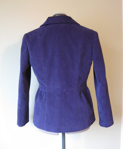 Blue cord jacket back