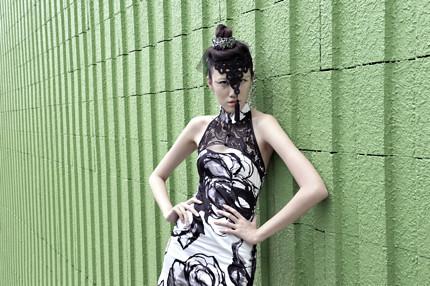Abi Keyhole Lace & Cotton Cheongsam