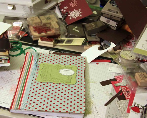 Candy Cane fabric journal (1)