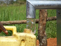 Clean water is flowing