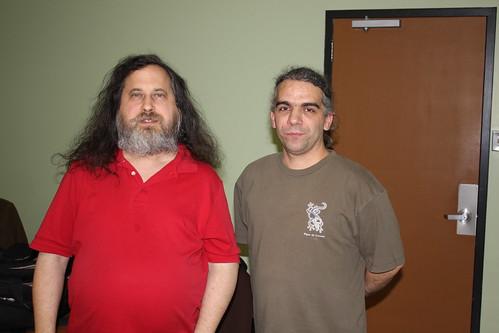 Richard Stallman et Yannick Pavard