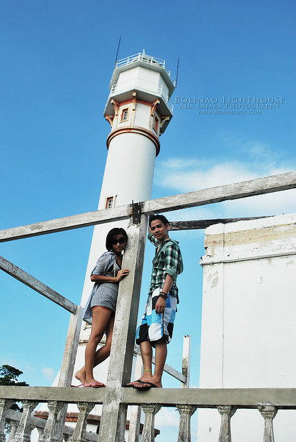 Cai and Darwin at Bolinao Lighthouse