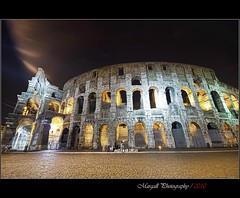 Colosseum by night - HDR - Notturno al Colosseo - Roma - Rome (Margall photography) Tags: italy rome roma night canon photography italia shot sigma colosseum flavio marco hdr colosseo notturno anfiteatro 30d galletto margall mygearandmepremium