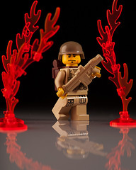 Fires of War (~Ghost Soldier~) Tags: modern fire war flames ghost hac brickarms soldier2010