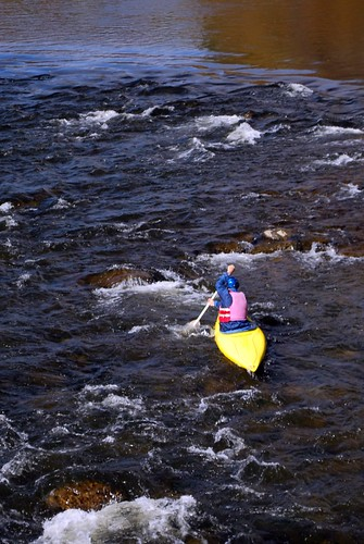 Kayaker Battling the Current