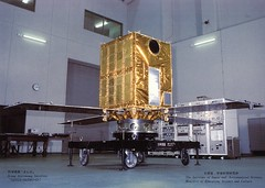 Ginga satellite in the clean room
