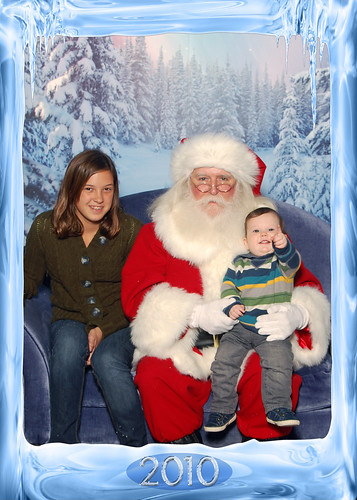 rocket and day with santa