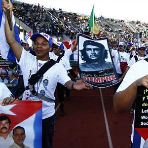 A delegation from revolutionary Cuba at the opening ceremony of the 17th World Festival of Youth and Students in the Republic of South Africa on Dec. 13, 2010. by Pan-African News Wire File Photos