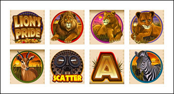 free Lion's Pride slot game symbols