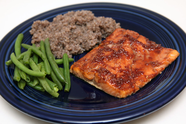 Pomegranate-Glazed Salmon