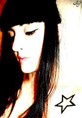 Starz (LaKry*) Tags: stella portrait white girl tattoo contrast hair star fringe bianco ritratto ragazza tatuaggio eyeliner capelli contrasto kry frangetta