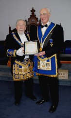 Ionic Lodge No. 229 Brampton Ontario - Presentation of a 50 Year Masonic pin to V.W.Bro. Horace Tomlinson (6)