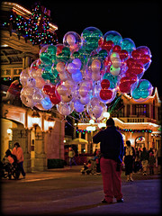 The balloon guy. [Explore] (Silver1SWA (Ryan Pastorino)) Tags: world canon mouse magic balloon kingdom disney mickey walt 50mmf18ii 40d